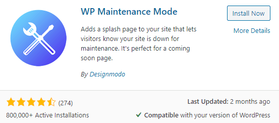 You can add a maintenance notice to inform your visitors