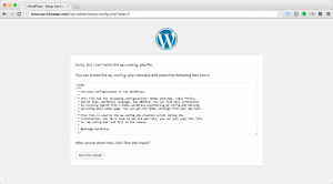 Install WordPress php config