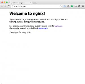WordPress VPS Nginx welcome screen