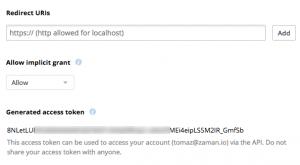 WordPress Dropbox access token