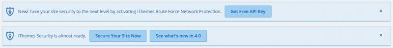 WordPress Security iThemes notice