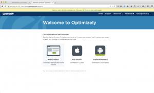 WordPress AB testing Optimizely select