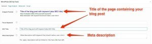 WordPress SEO plugin explained