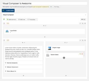WordPress Visual Composer Example