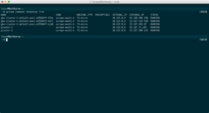 Instance list in Terminal
