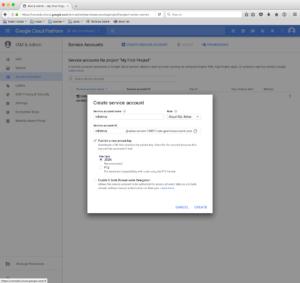 Service account configuration