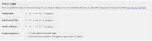 Display settings in WooCommerce
